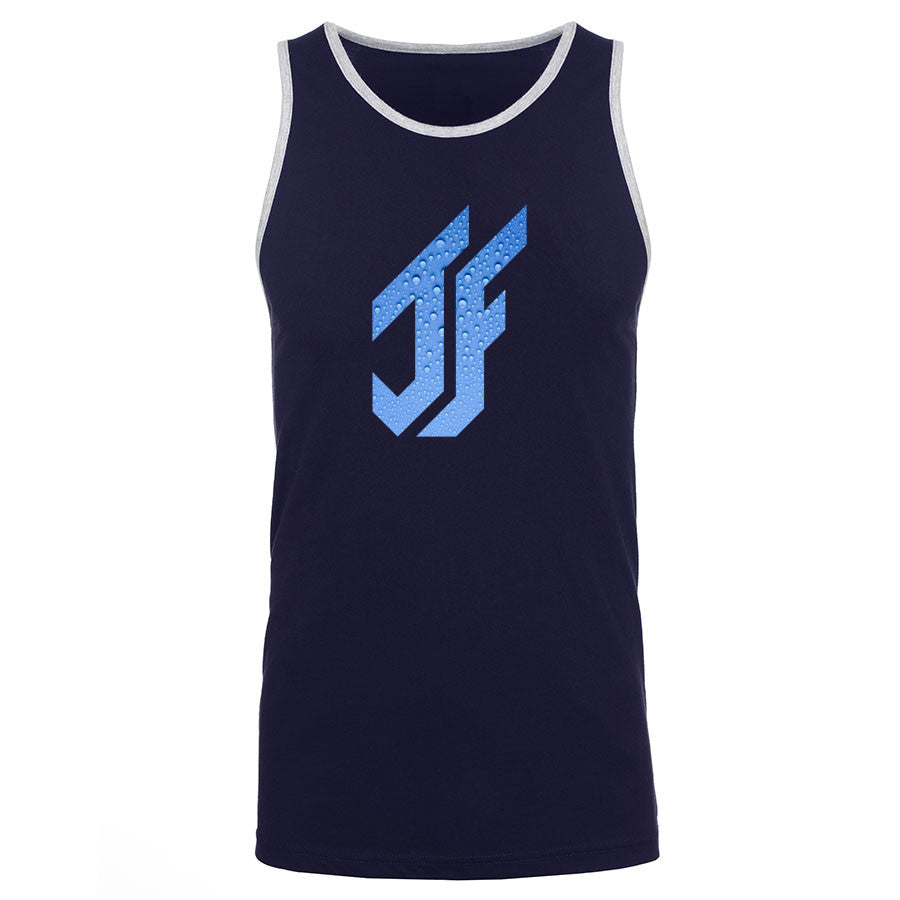 Jason Falco Droplets FX Tank Top - NvyHthr