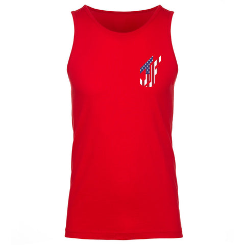 Jason Falco Flag Heart FX Tank Top - Red