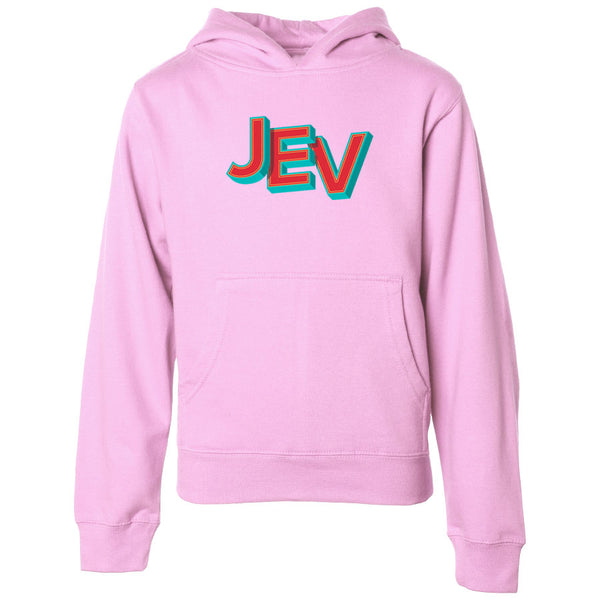 Jev Throwback FX Youth Hoodie - LPnk - DISCOUNTED ITEM