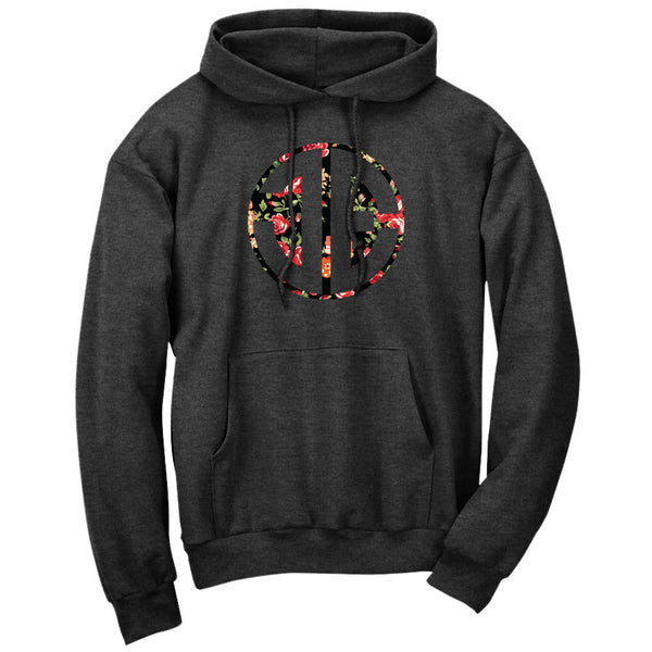 JEric Cut Out FX Rose Hoodie - ChclHthr - DISCOUNTED ITEM