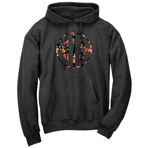 JEric Cut Out Hoodie - Rose on ChclHthr - DISCOUNTED ITEM