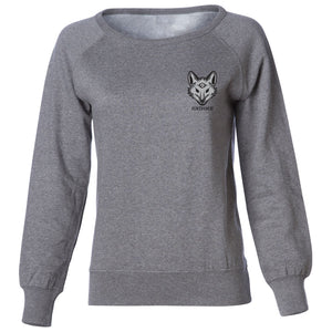 justfoxii Icon Heart FX Girls Crewneck