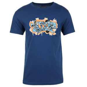 KOSDFF Graffiti FX OrgBlu Short Sleeve
