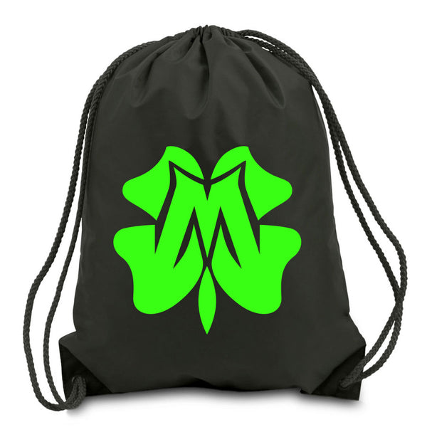Master of Luck Icon Cinch Bag - NGrn on Blk