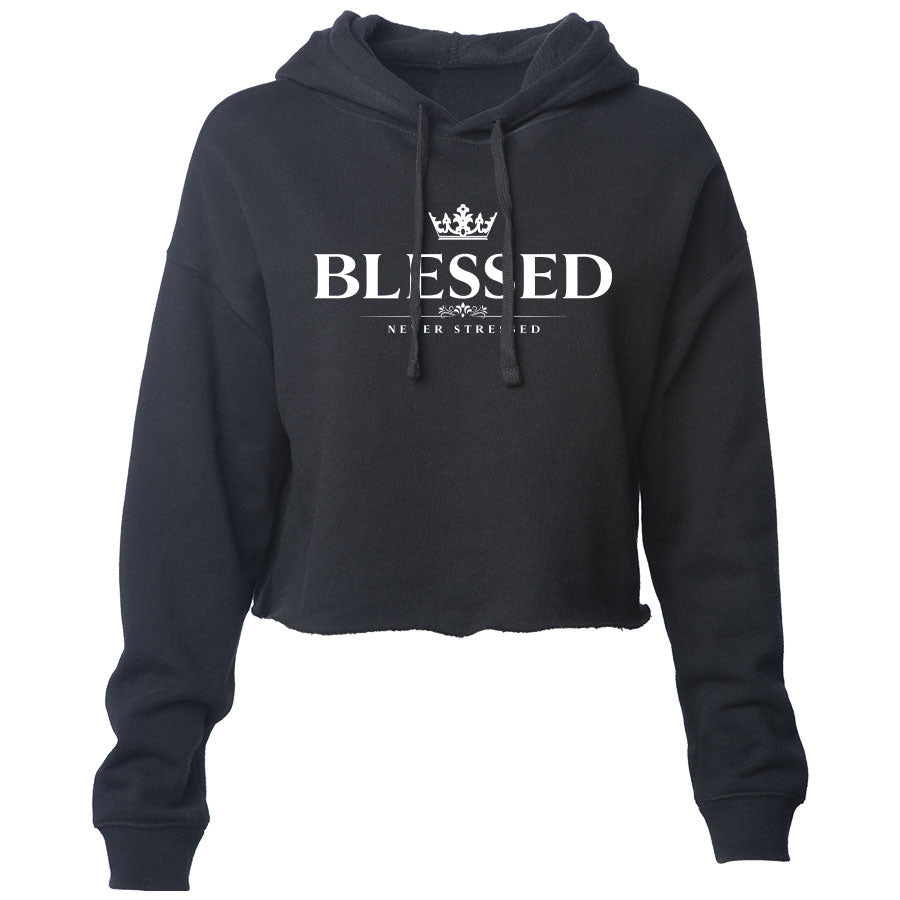 Mocha Blessed Girls Lightweight Crop Hoodie