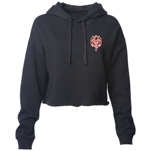Mocha M Heart FX Girls Lightweight Crop Hoodie