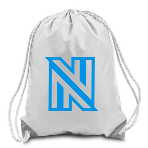 NuFo Icon Cinch Bag - NBlu on Wht