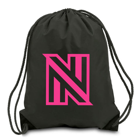 NuFo Icon Cinch Bag - NPnk on Blk
