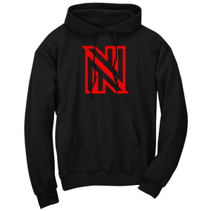 NuFo Icon Hoodie - Red on Blk