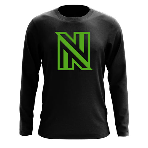 NuFo Icon Long Sleeve - Grn on Blk