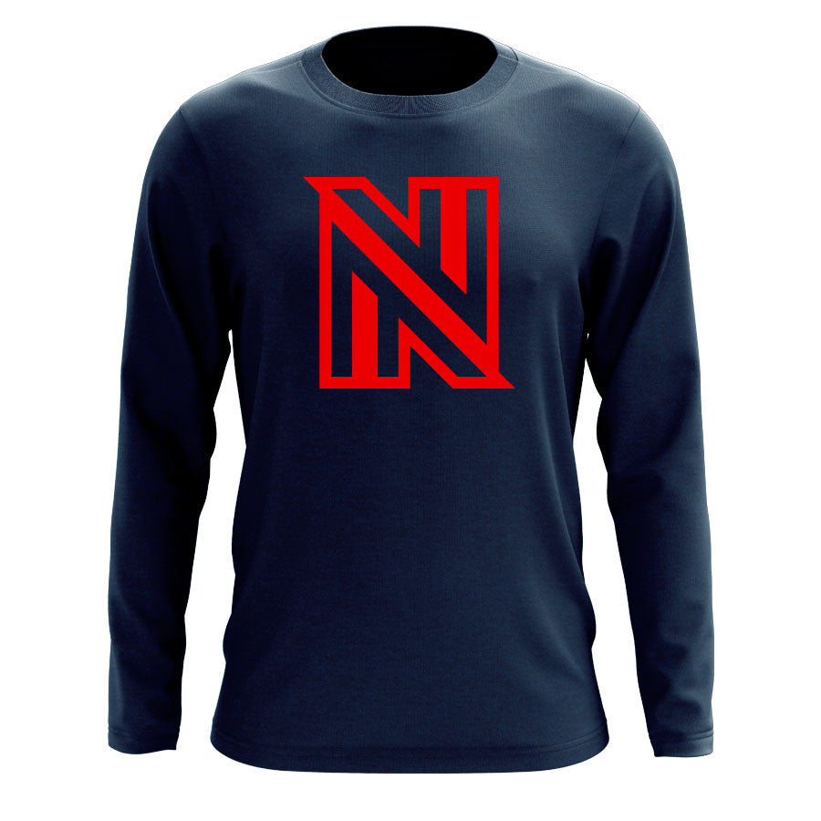 NuFo Icon Long Sleeve - Red on Nvy