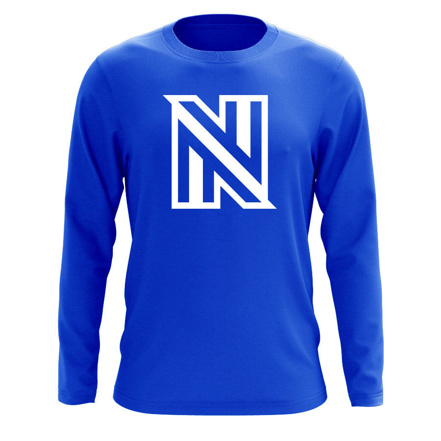 NuFo Icon Long Sleeve - Wht on Ryl