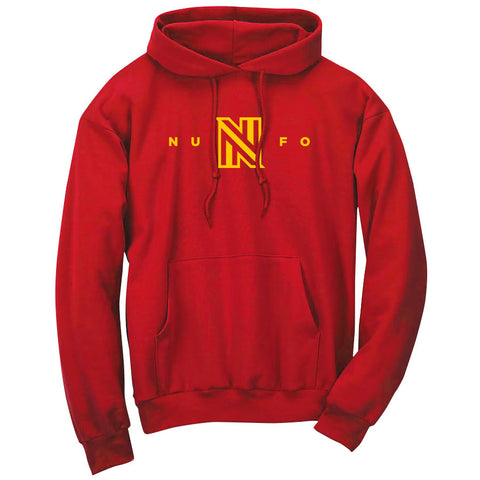 NuFo Logo Hoodie - Yel on Red