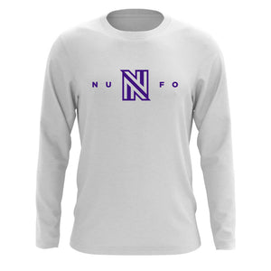 NuFo Logo Long Sleeve - Prp on Wht