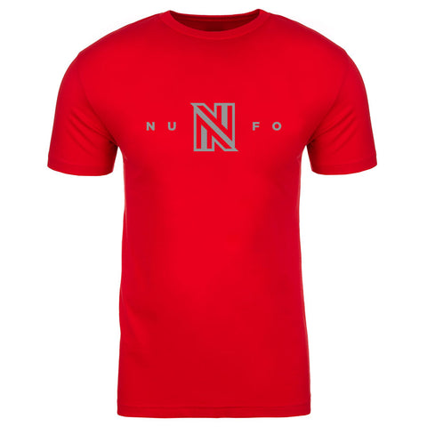 NuFo Logo Short Sleeve - Gry on Red