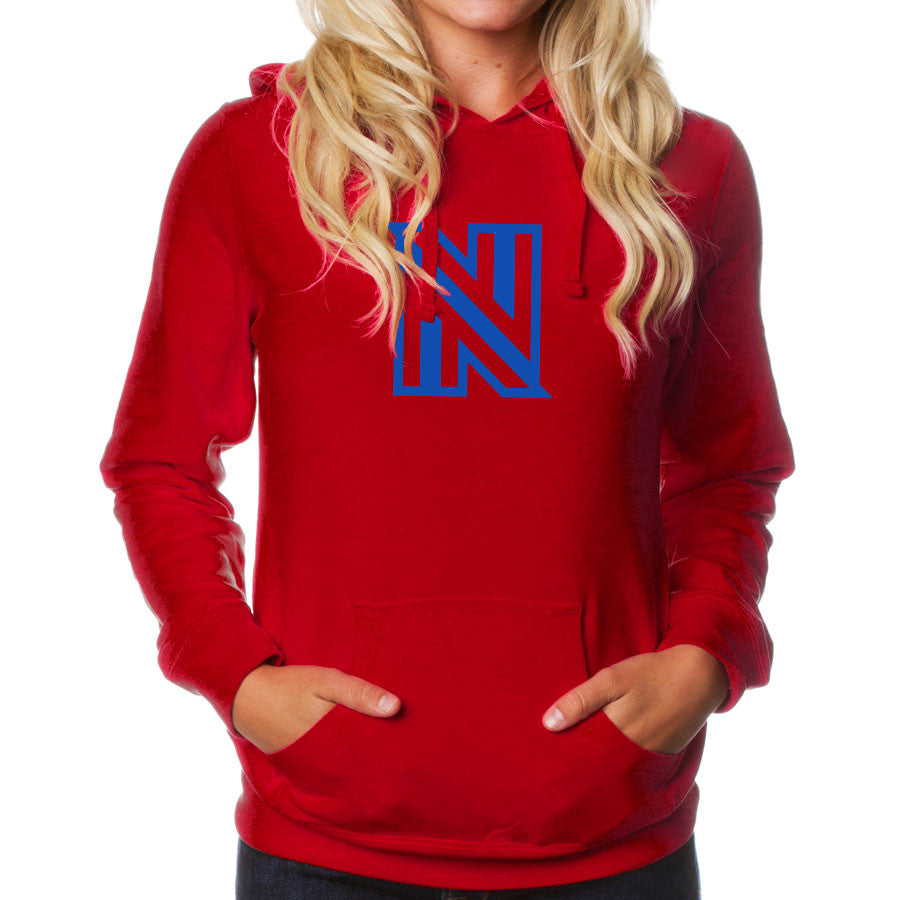 NuFo Icon Girls Hoodie - Ryl on Red