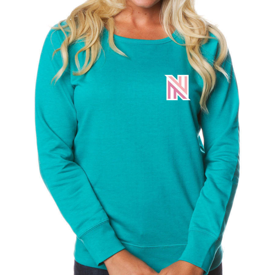 Nufo Icon Heart FX Girls Crewneck - Teal