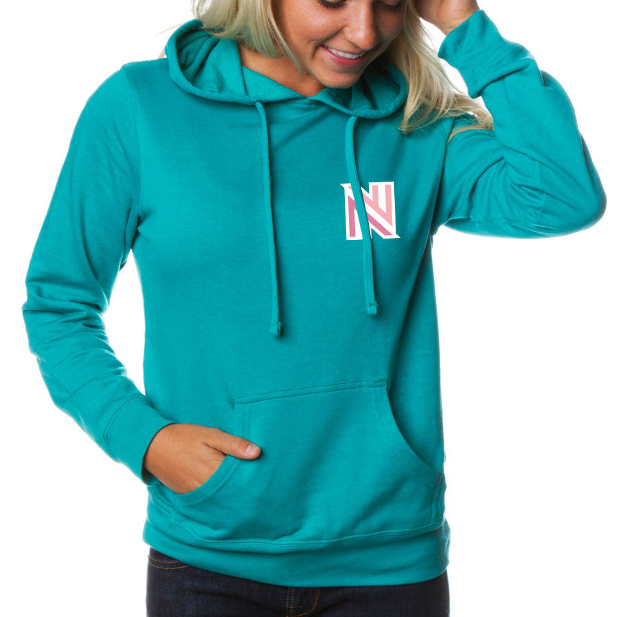 NuFo Icon heart FX Girls Hoodie - Teal