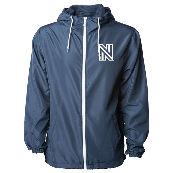 NuFo Icon Heart Lightweight Windbreaker - Wht on NvyWht