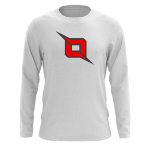 Octane Icon Long Sleeve - DGryRed on Wht