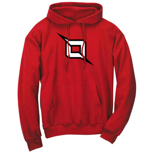 Octane Icon Hoodie - Blkwht on Red