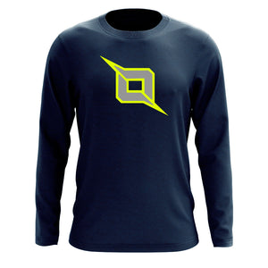 Octane Icon Long Sleeve - NYelGry on Nvy