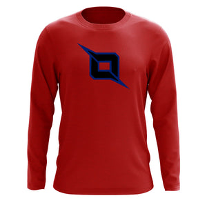 Octane Icon Long Sleeve - NvyBlk on Red