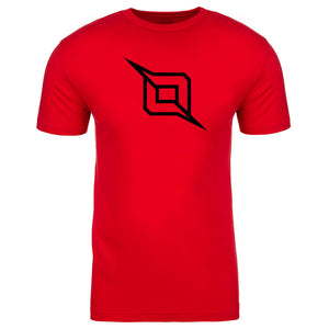 Octane Outliner Short Sleeve - Blk on Red