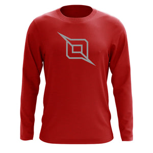 Octane Outliner Long Sleeve - Gry on Red