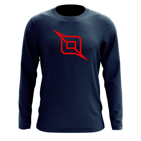 Octane Outliner Long Sleeve - Red on Nvy