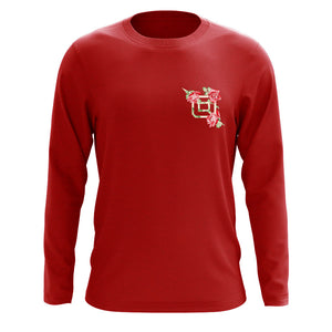 Octane Rose Heart FX Long Sleeve - Red