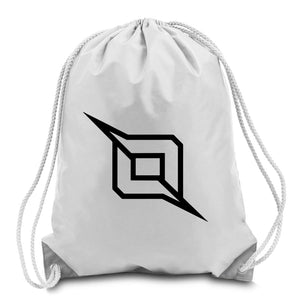 Octane Outliner Cinch Bag - Blk on Wht