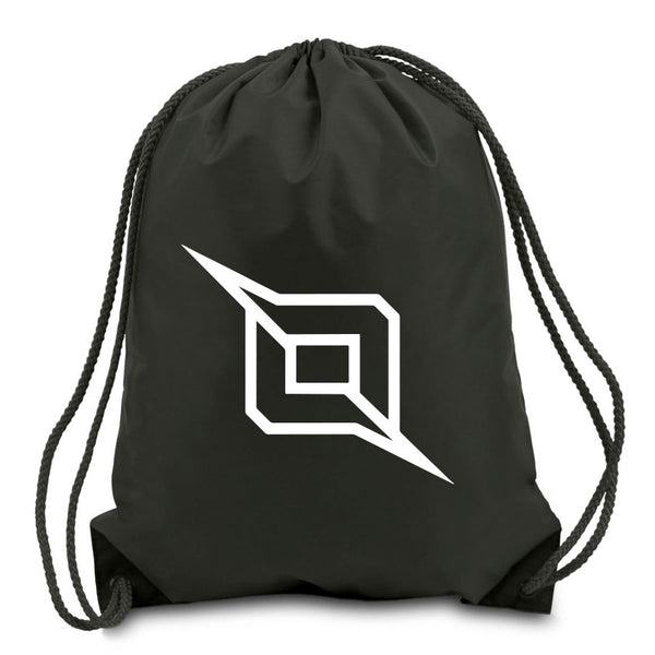 Octane Outliner Cinch Bag - Wht on Blk