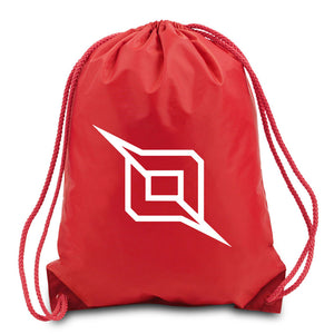 Octane Outliner Cinch Bag - Wht on Red