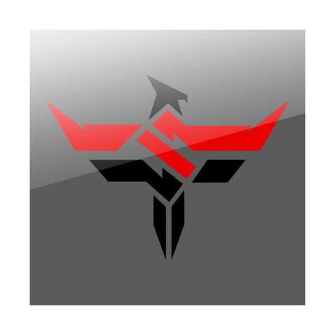 "Slacked Phoenix 24"" Wall Decal - RedBlk"