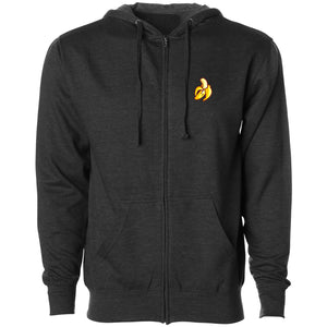 Rallied Icon Heart FX Zip Up Hoodie - ChclHthr - DISCOUNTED ITEM