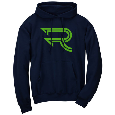Replays Icon Hoodie - Grn on Nvy