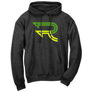 Replays DoubleUp Hoodie - GrnNYel on ChclHthr