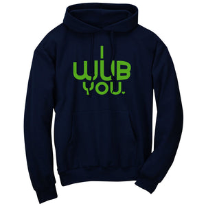 SoCloseToToast I Wub You Hoodie - Grn on Nvy