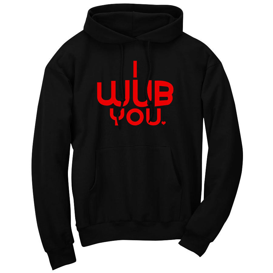 SoCloseToToast I Wub You Hoodie - Red on Blk