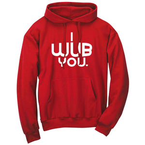 SoCloseToToast I Wub You Hoodie - Wht on Red
