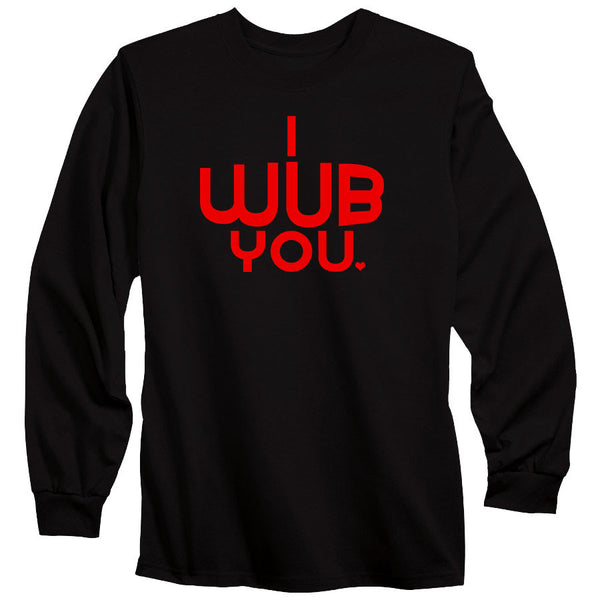 SoCloseToToast I Wub You Long Sleeve - Red on Blk