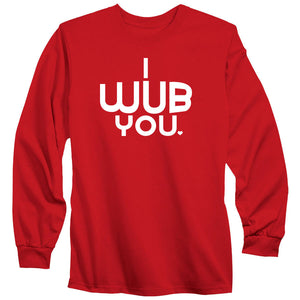 SoCloseToToast I Wub You Long Sleeve - Wht on Red