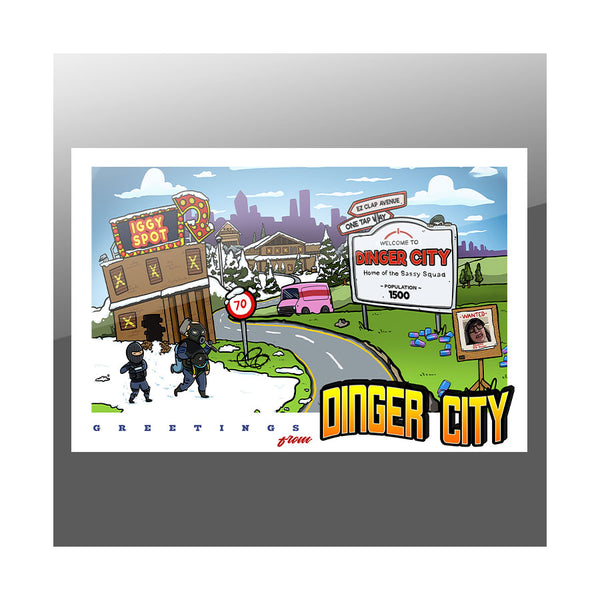 "Sasslyn Dinger City 27"" Poster"