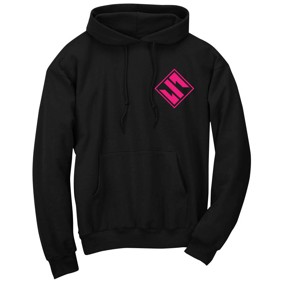 Slacked Diamond Hoodie - NPnk on Blk