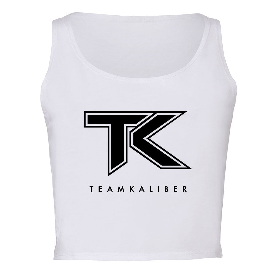 Team Kaliber Logo Girls Crop Tank