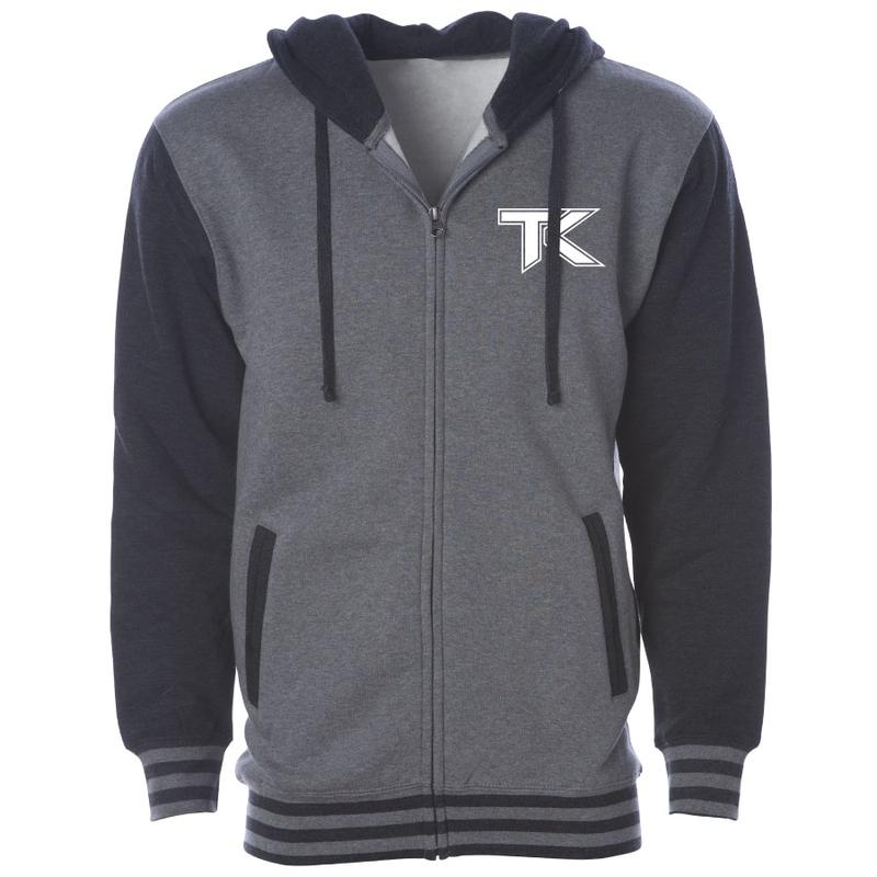 Team Kaliber Icon Heart Hooded Varsity Jacket