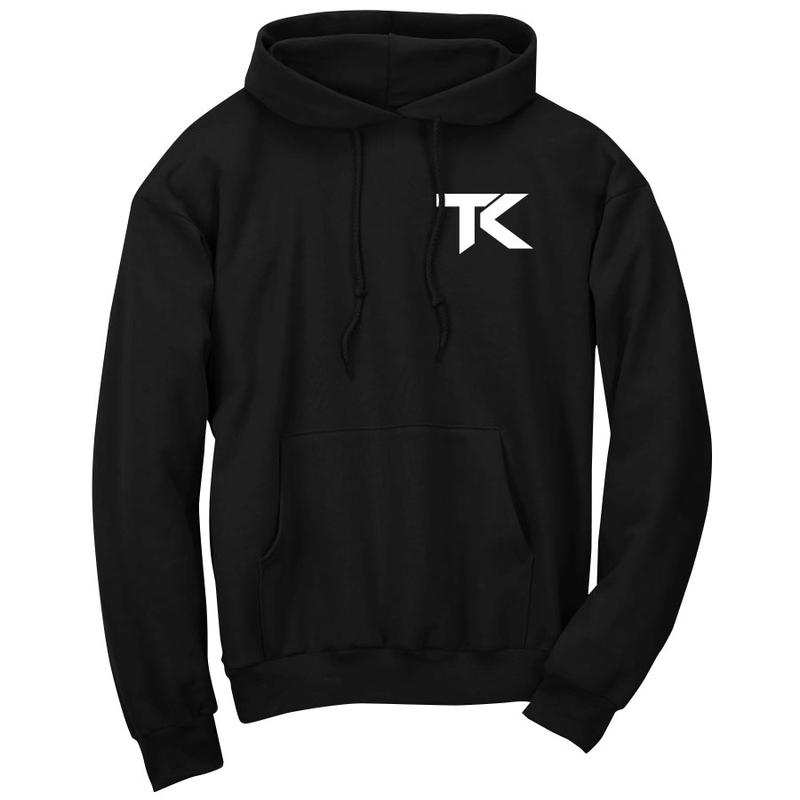 Team Kaliber MTAT Hoodie - Wht on Blk - DISCOUNTED ITEM