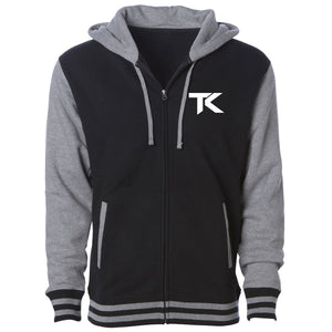 Team Kaliber TK Heart Hooded Varsity Jacket