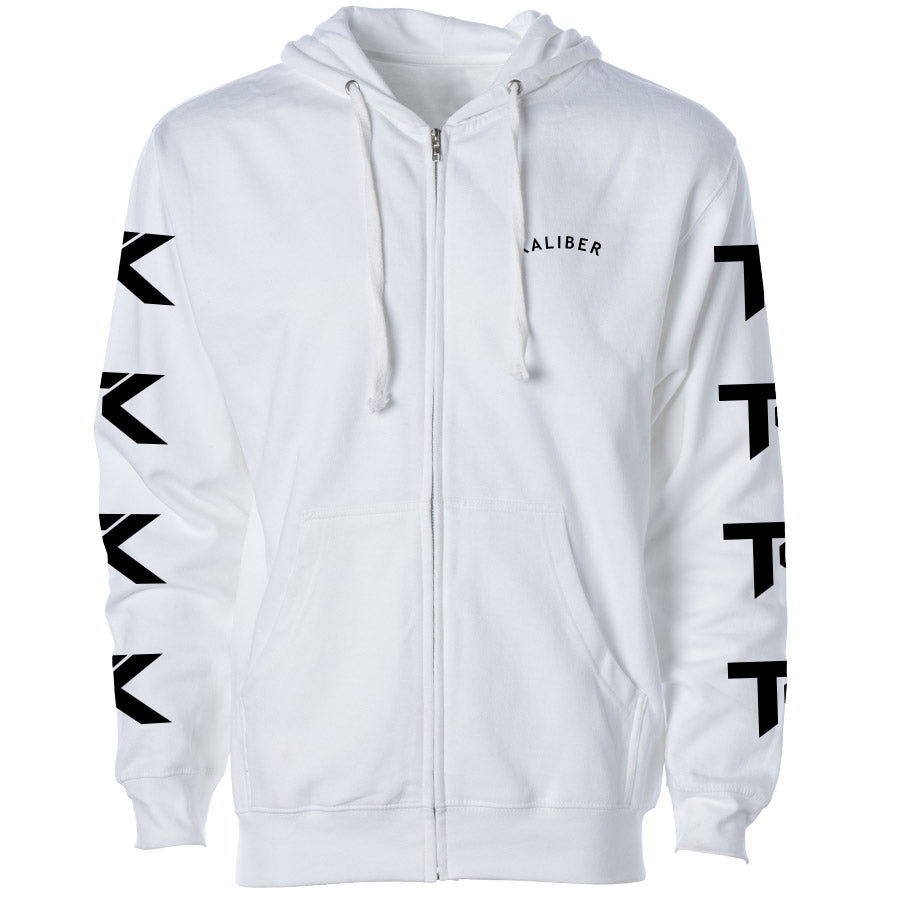 Team Kaliber Arc Heart Zip Up Hoodie - Blk on Wht - DISCOUNTED ITEM